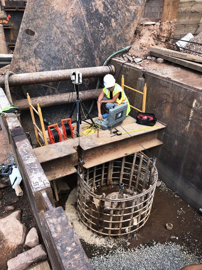 Crosshole Sonic Logging CSL, Olson Engineering