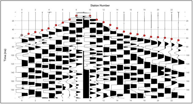 Seismic Refraction Tomography Data, Olson Engineering